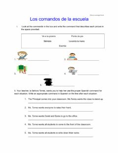 Interactive worksheet commandos grado 6 above level