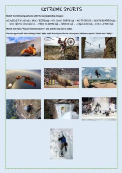 Interactive worksheet Extreme sports