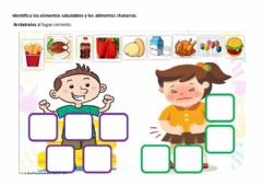 Interactive worksheet Alimentación