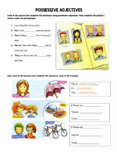 Interactive worksheet Possessive Practice