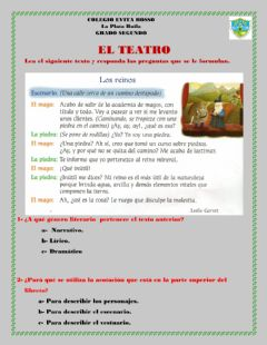 Interactive worksheet El teatro