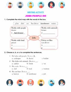 Ficha interactiva Writing about jobs