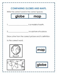 Interactive worksheet Comparing globes and maps