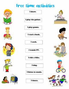Interactive worksheet Free time activities