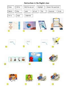 Interactive worksheet Instructions - help to understand what you are asked to do