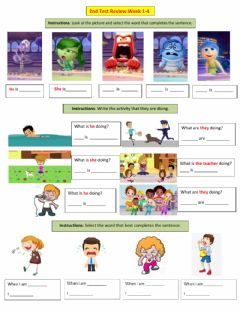 Interactive worksheet Review ING and emotions