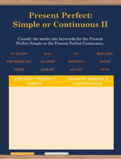 Interactive worksheet Present Perfect Simple vs Continuous II