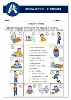 Interactive worksheet Review Activity - Unit 3 5th Grade