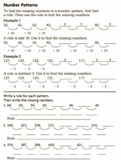 Interactive worksheet Grade 3 Number Pattern