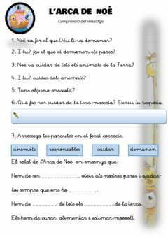 Interactive worksheet L'arca de noé