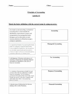 Interactive worksheet Introduction to accounting