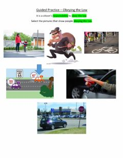 Interactive worksheet Guided Practice - Obeying the Law