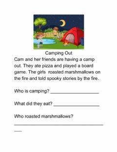Interactive worksheet Camping Out 1
