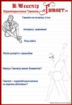 Interactive worksheet В.Шекспір -Гамлет-