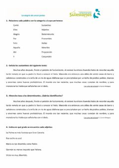 Interactive worksheet Prueba nivel palabras variables e invariables