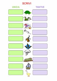 Interactive worksheet Chi che  ghi ghe