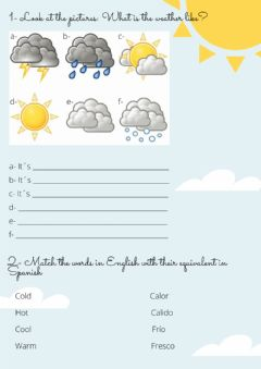 Interactive worksheet The weather and the seasons