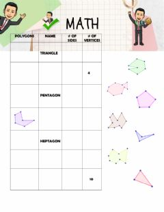 Interactive worksheet Classification of Polygons