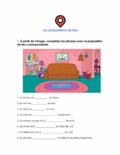 Interactive worksheet Les prépositions