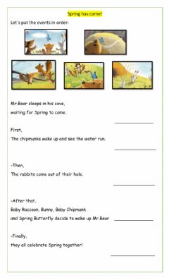 Interactive worksheet Story order- Spring has come