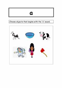 Interactive worksheet Identifying A