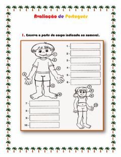 Interactive worksheet Partes do Corpo - Futuro Próximo