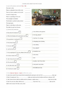 Interactive worksheet KET Lesson 2 Chores and Objects in the House