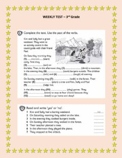 Interactive worksheet Regular verbs - ordinalnumbers