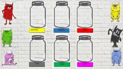 Interactive worksheet The color monster jars