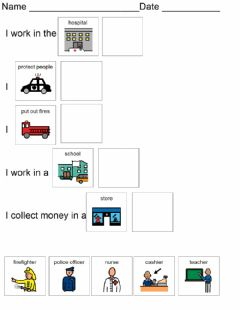 Interactive worksheet Community Helpers