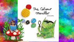 Interactive worksheet The color monster comic game