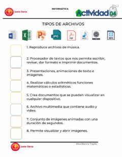 Interactive worksheet Tipos de Archivos