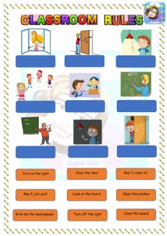 Interactive worksheet Grade 4-Unit 1-Classroom Rules