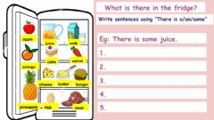 Interactive worksheet What is there in the fridge?