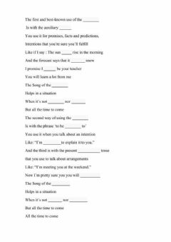 Interactive worksheet Song of the future