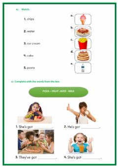 Interactive worksheet Food revision 28-09