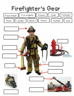 Ficha interactiva Firefighter Gear Worksheet
