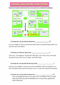 Interactive worksheet Asking and giving directions 2