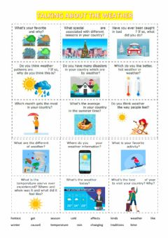 Interactive worksheet Talking about the weather