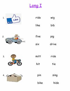 Interactive worksheet Long I