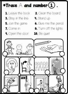 Interactive worksheet 4.1. Classroom Rules - Look and Number
