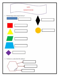 Interactive worksheet Lkpd bangun datar