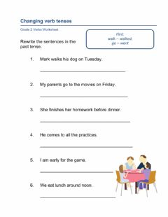 Interactive worksheet Rewrite past tense