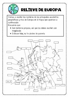 Interactive worksheet Relieve de Europa