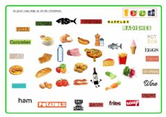 Interactive worksheet Pad23a  Food and Drinks Match