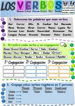 Interactive worksheet Los verbos