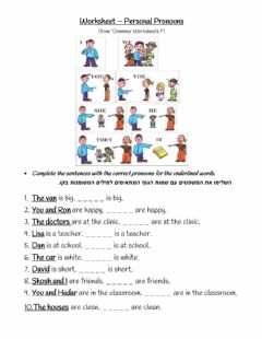 Ficha interactiva Subject Pronouns