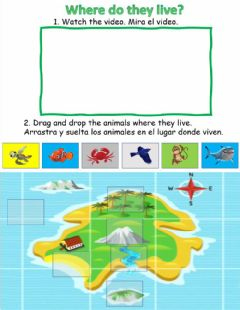 Interactive worksheet Where do they live? MAPS