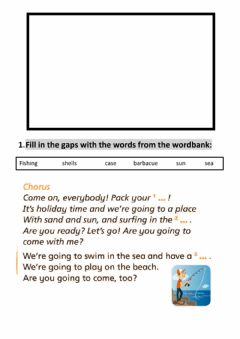 Interactive worksheet Rooftops 5 unit 6 song