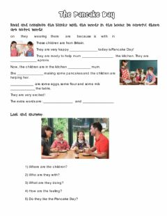 Interactive worksheet The Ppancake day